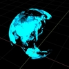 Blender 277日目。「ホログラフィックな地球のモデリング」その1。