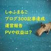 ブログ300記事の運営報告。PVや収益はどのくらい?