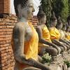 世界遺産のアユタヤ遺跡を巡る。仏像が沢山「ワット・ヤイ・チャイ・モンコン」へ