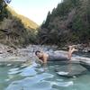 十津川村 上湯温泉 河原の露天風呂&つるつるの湯&野猿