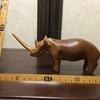 00027『動物木彫:サイ』(【ケニア】ハンドカービング)
