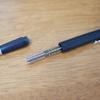 時代を超えたデザインのボールペン「LAMMY 2000」の替え芯を三菱鉛筆のジェットストリームにアップデート。