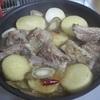 スペアリブと焼き冬野菜の甘酒照り煮を作ってみた
