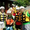 夏のキャンプ旅行1 山梨ラフティング・平湯キャンプ場