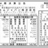 スリーエムジャパン株式会社 第44期決算公告