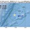 2017年09月01日 04時44分 関東東方沖でM3.2の地震