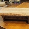 銘木でロースタイルのミニテーブルをDIY
