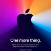 Apple、イベント「One more thing」を日本時間11月11日午前3時に開催を発表