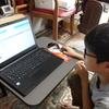 日曜日の今日、九龍は午前中に早稲アカの夏期講習を受け、午後からは小学校のプログラミングの課題を楽しそうにやっていました。