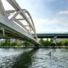 大川のボート