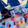 明石の林崎海水浴場で1日中バーベキューと海水浴❤︎夏を満喫