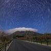 【天体撮影記 第116夜】 熊本県 月夜の根子岳と星空の軌跡