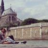 アムールの国フランスの愛のあふれる落書きスナップショット