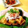 もっちり☆ハートの揚げ出し高野豆腐&切り干しキムチの荏胡麻和え