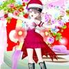 ルビー基調の『サンタ』ドレス