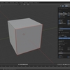 Blender2.8で辺のクリース・シャープ・ベベル・シームを個別に確認する