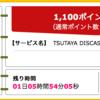 ハピタス みんなdeポイント TSUTAYA30日無料お試しで1,100ポイント