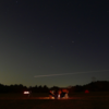 キャンプ・夜空を流れる軌道