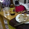 幸運な病のレシピ( 631 )夜:ホルモン(シマチョウ)、汁、イナダ刺し身、イカ煮つけ、ホッピー