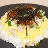 いくらとツナのちらし寿司/さんま水煮缶で作るさんま飯のいくらのせ(*´▽`*)