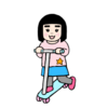 娘が体を使って遊べるように選んだキックスケーターは  イージースケーター!