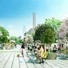 桜町・花畑地区のオープンスペース
