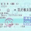 JR東日本  中山駅発行 連続乗車券<途中下車印収集>