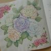 再完成】主線を目立たせない塗り方を目指してミニ薔薇を塗ってみました☆花日和花だよりより