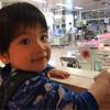 NICUの赤ちゃんを応援する次男 3歳