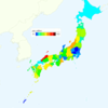 Rate of Deaths from Parkinson's Disease by Prefecture in Japan, 2015