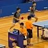 阪選手・久保田選手組 男子ダブルス二回戦。2019鹿児島インターハイ 卓球