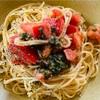 青紫蘇香る~~(´‥`) 冷製トマトパスタとラディッシュの浅漬け