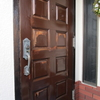 木製玄関ドア塗装 世田谷区