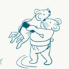ネズミの相撲