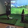 今日は週末。ゴルフの練習です。