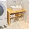 【洗面スペースの収納】できるだけシンプルにしまう。