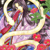 「白蛇の姫」色鉛筆&鉛筆オリジナル平安イラスト:炭治郎は「普通の男」ではないわな・・・