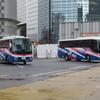 名古屋で並ぶ、西日本JRバスの新塗装車