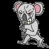 【イラスト】詰め寄って威嚇するゴァラ