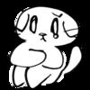 大好きな人に会えなくて涙がこぼれた猫のイラスト