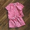 【リメイク】ギンガムチェック・ダブルガーゼのチュニックパジャマを子供サイズに作り替えました