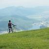 【自転車旅】【長野】例の桟橋、例の山、例のパラグライダー場【木崎湖】