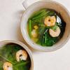 たるみ薬膳!ほうれん草とエビの代謝UPスープ