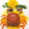 上海蟹をいただく