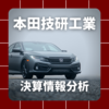 【決算情報分析】本田技研工業(HONDA MOTOR CO.,LTD.、72670)