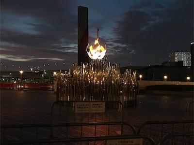 聖火が灯されています〜シンボルプロムナード夢の大橋〜