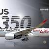 JAL・Boring777の後継機、AirBusA350を就航、機のカルテを始めて電子化