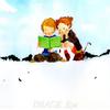 公園で一緒に読書📖楽しい友達との時間