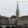 スイス チューリッヒの旧市街 /Zurich フラウミュンスター 教会