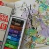 完成】100均ダイソーの水彩絵の具でラプンツェルを塗ってみました☆アートぬりえRapunzelより